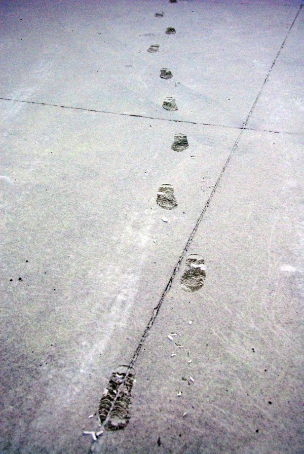 we leave footprints