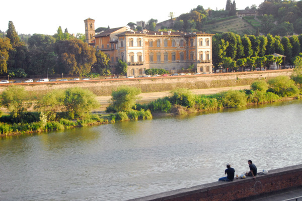 afternoon with my friend along the arno river