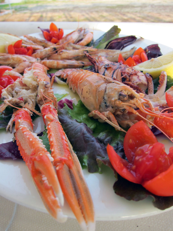 the crayfish is upset you're going to eat him