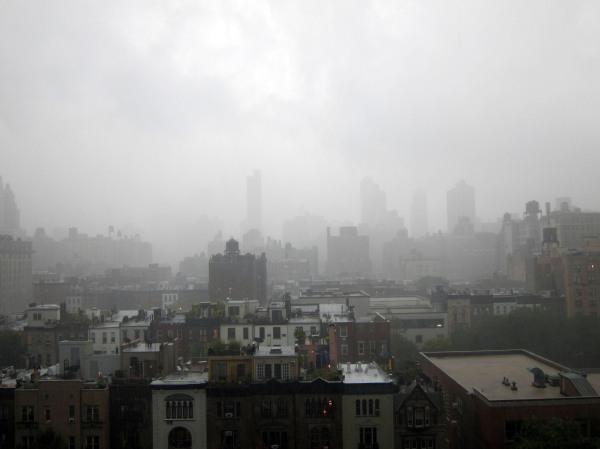 new york city: foggy