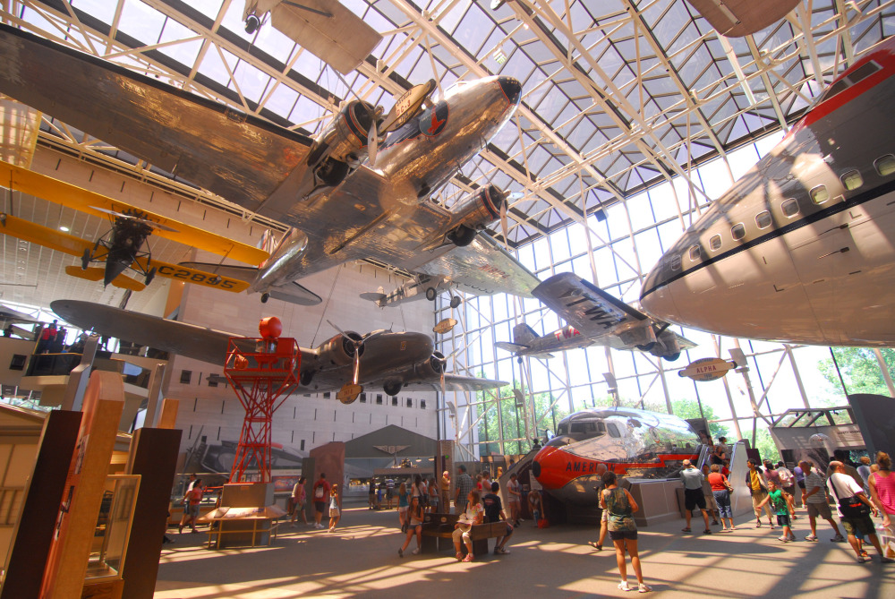 surrounded by the history of flight