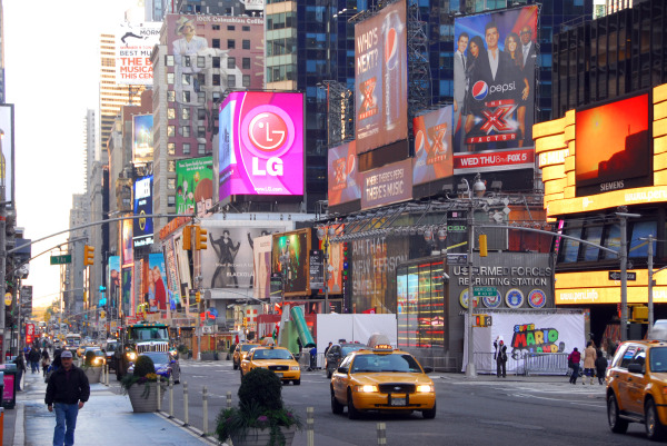 super mario 3d land in times square