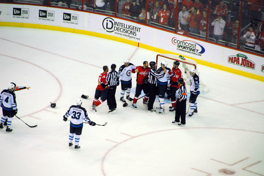 capitals vs jets: fight!