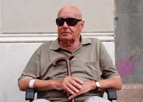Portrait of an old man, taken in Barcelona.