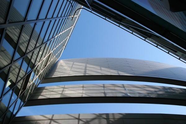 Architectural detail, taken in Düsseldorf.