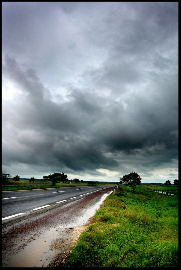 Road and clouds