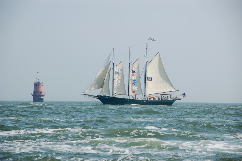 Tall Ship and a Lighthouse