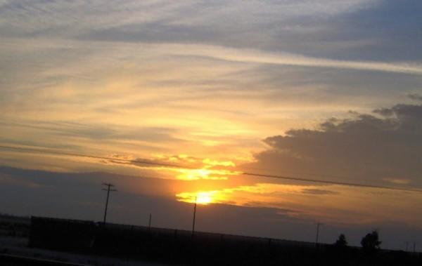 Sunrise in yellow