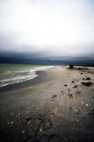 beach before the storm