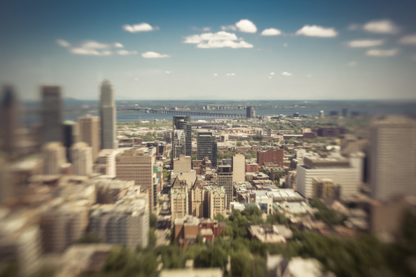 montreal from the summit
