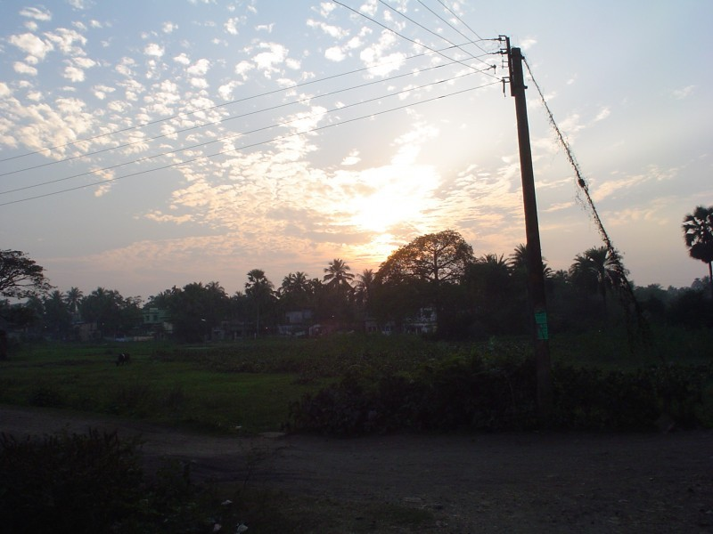 sunset at baruipur