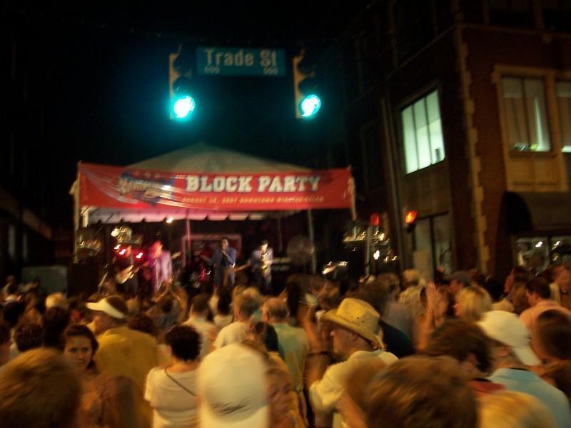 Downtown Winston-Salem block party