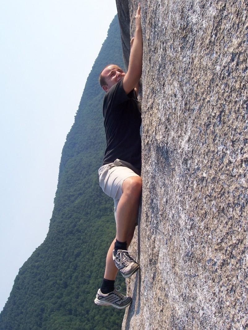 Hiking in Stone Mountain, NC