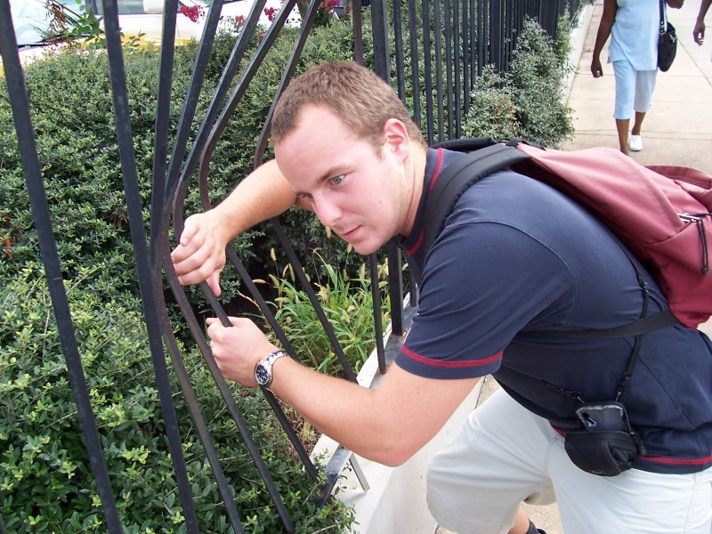 strength fence man hot