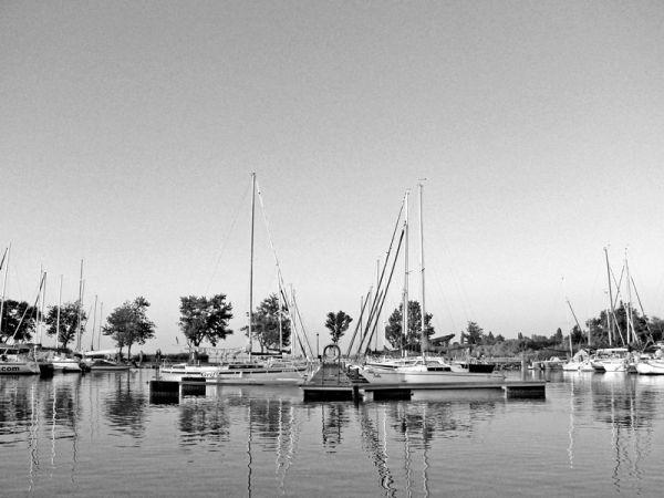 Marina at Balaton lake