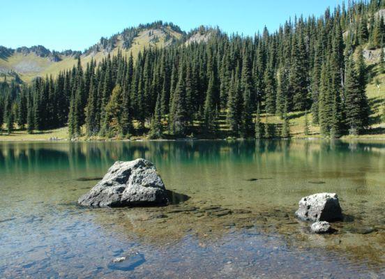 Two Rocks at Alpine Lake