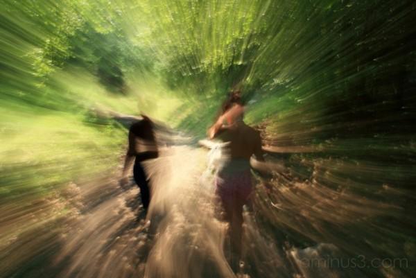 2 girls on a path