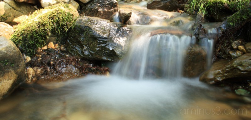 A waterfall shot with long exposure