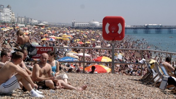 The Crowds at Brighton Beach