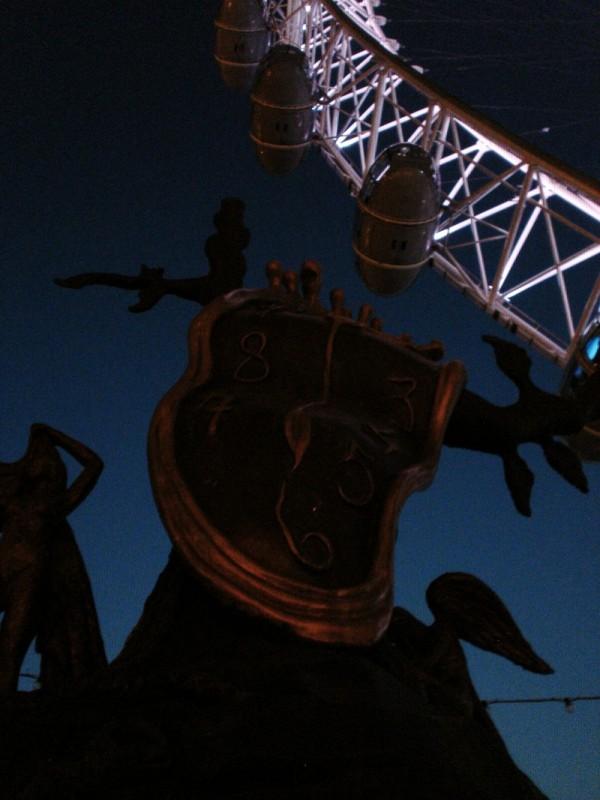 London's Eye and Dali's Clock