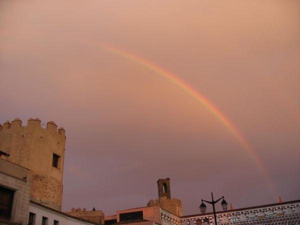 Arco iris en la Plaza Alta