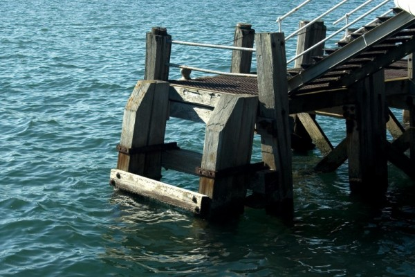 A pier support at Torquay Devon