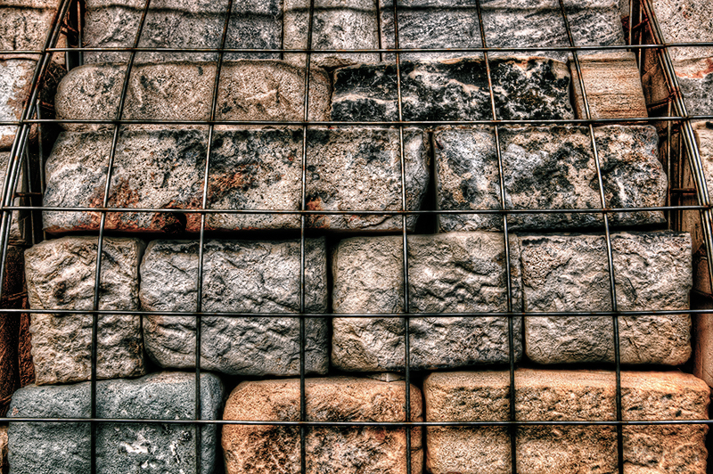 Arty Gabion Baskets on the Scottish Parliament