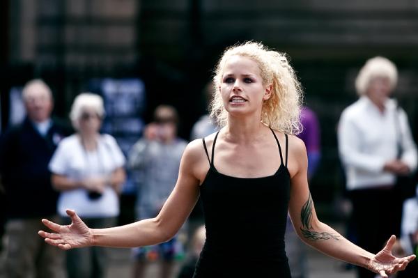 A performer at the Edinburgh Festival