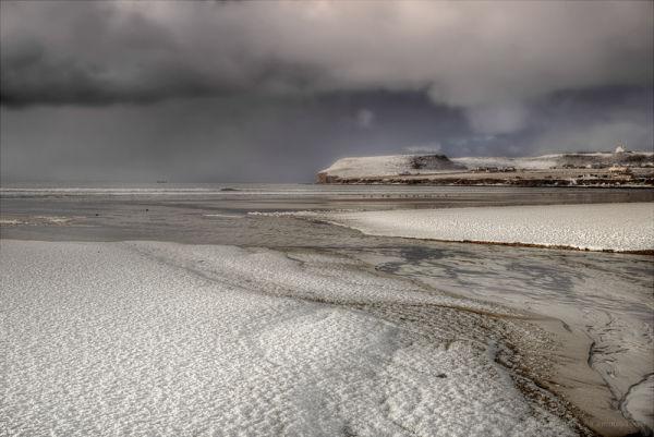 A Snowy Beach at John O'Groats