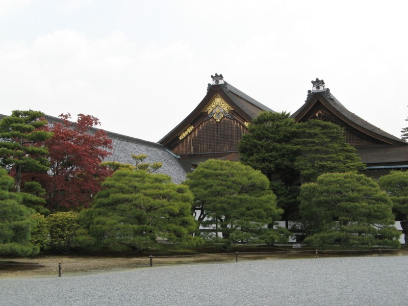 The imperial palace in Kyoto.