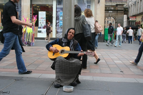 Guitar player in Glasgow