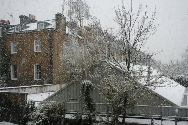 Snow in London