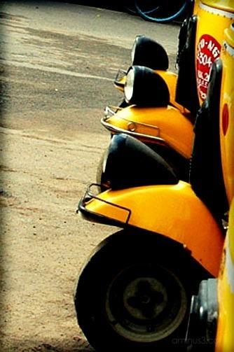 autorickshaws, kanyekumari, india