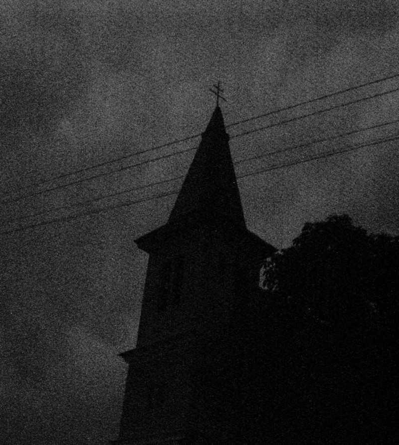 A church captured by night