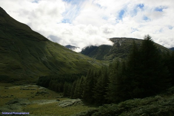 View along Glen Etive