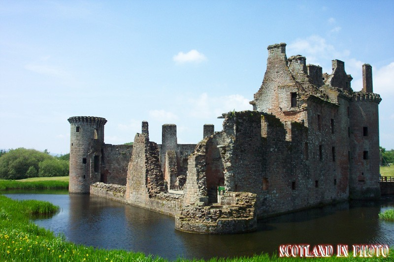 Caerlaverock Castle ruins in the Scottish Borders