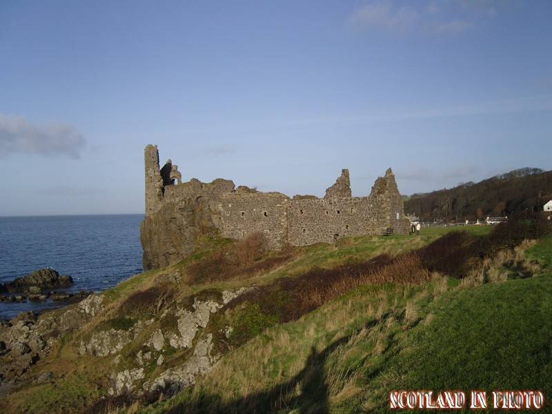 Dunure Castle on the Ayrhire coast.