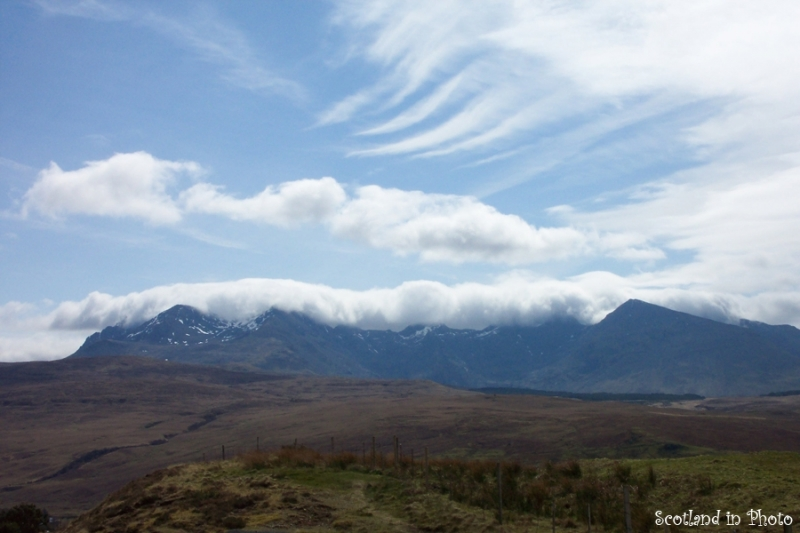 Clouds over the Cuillins