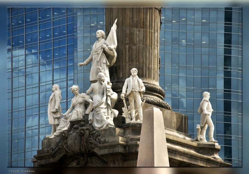 Marble Sculptures of Column of Independence Mexico