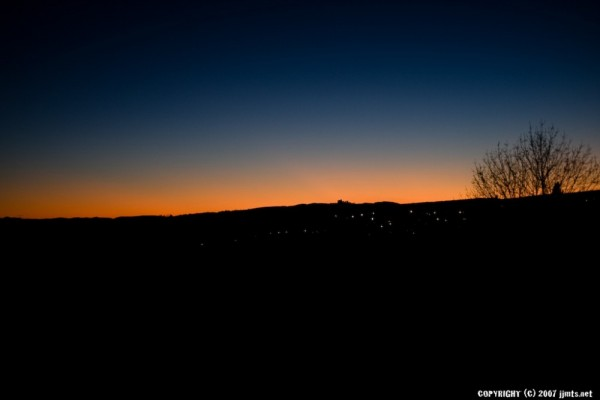 Sunset over Forcalquier