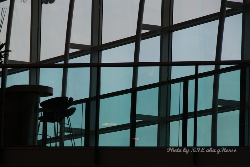 Silhouette Airport Building Structure