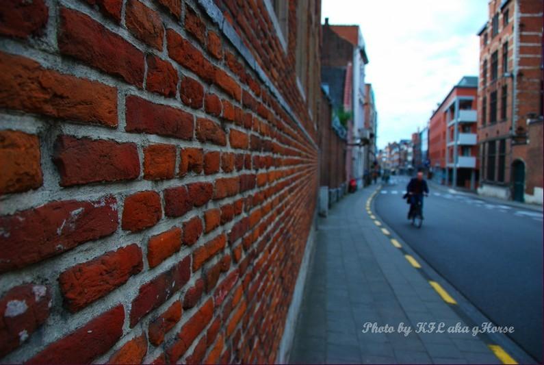 Road Wall Leuven Belgium