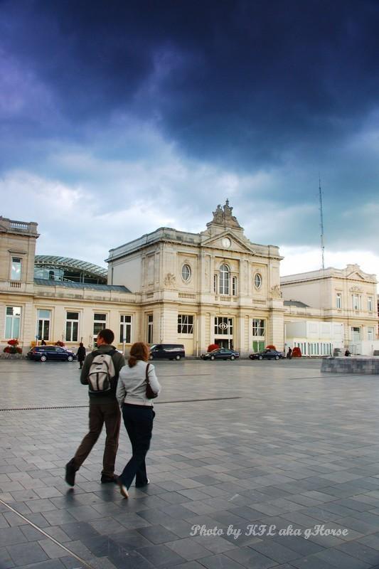 Train station leuven belgium cloud sky