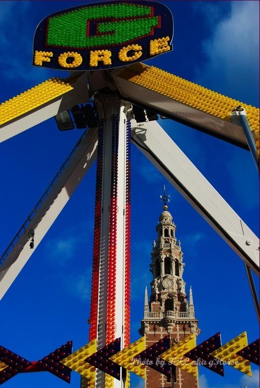leuven belgium carnival swing tower