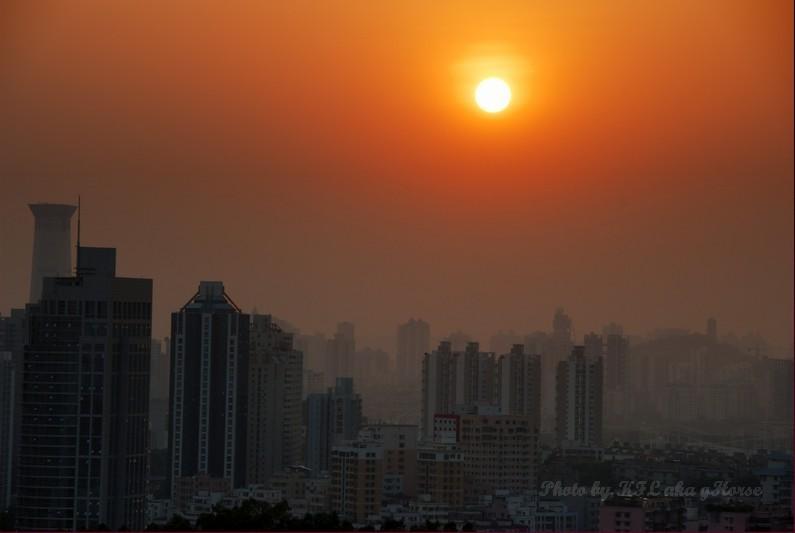 Shenzhen LotusHillGarden Sunset