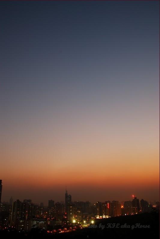 Shenzhen LotusHillGarden Sunset Sky