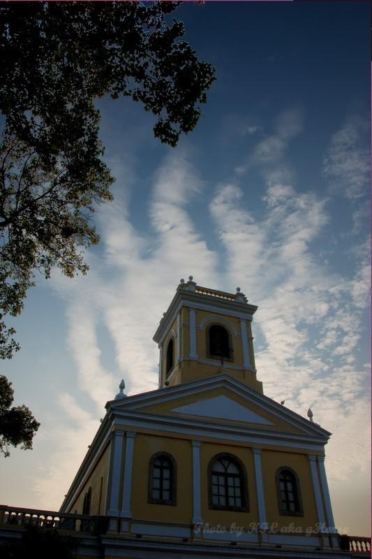 Macau Chapel Blue Sky Cloud