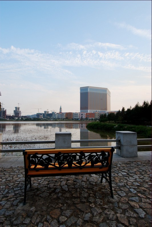 Macau Museum Ventian Pond Reflection Bench