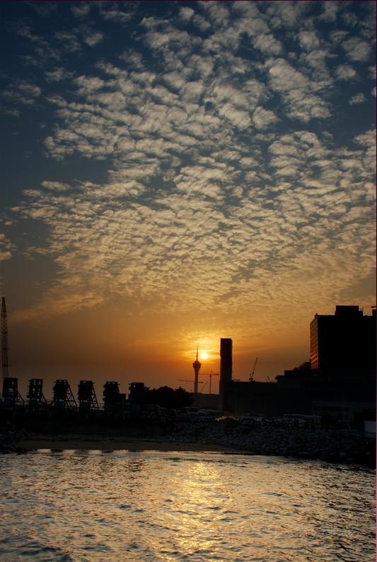 Macau Sunset Blue Sky Cloud