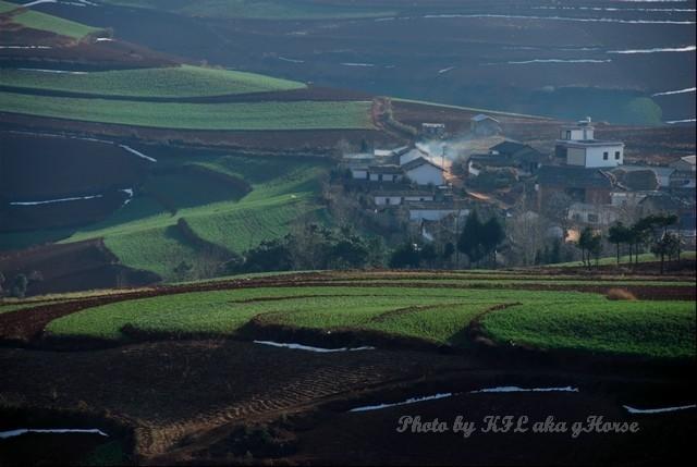 dongchuanredland redland land green village house